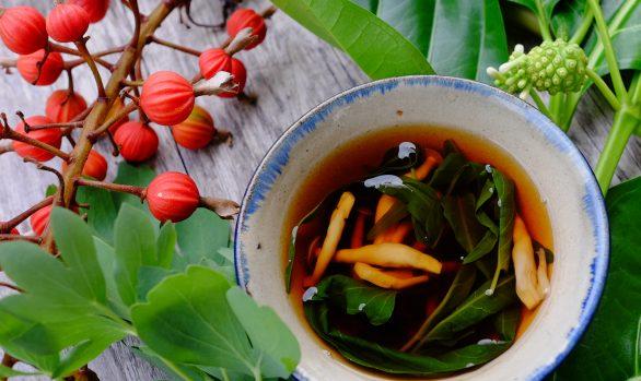 野草スープ